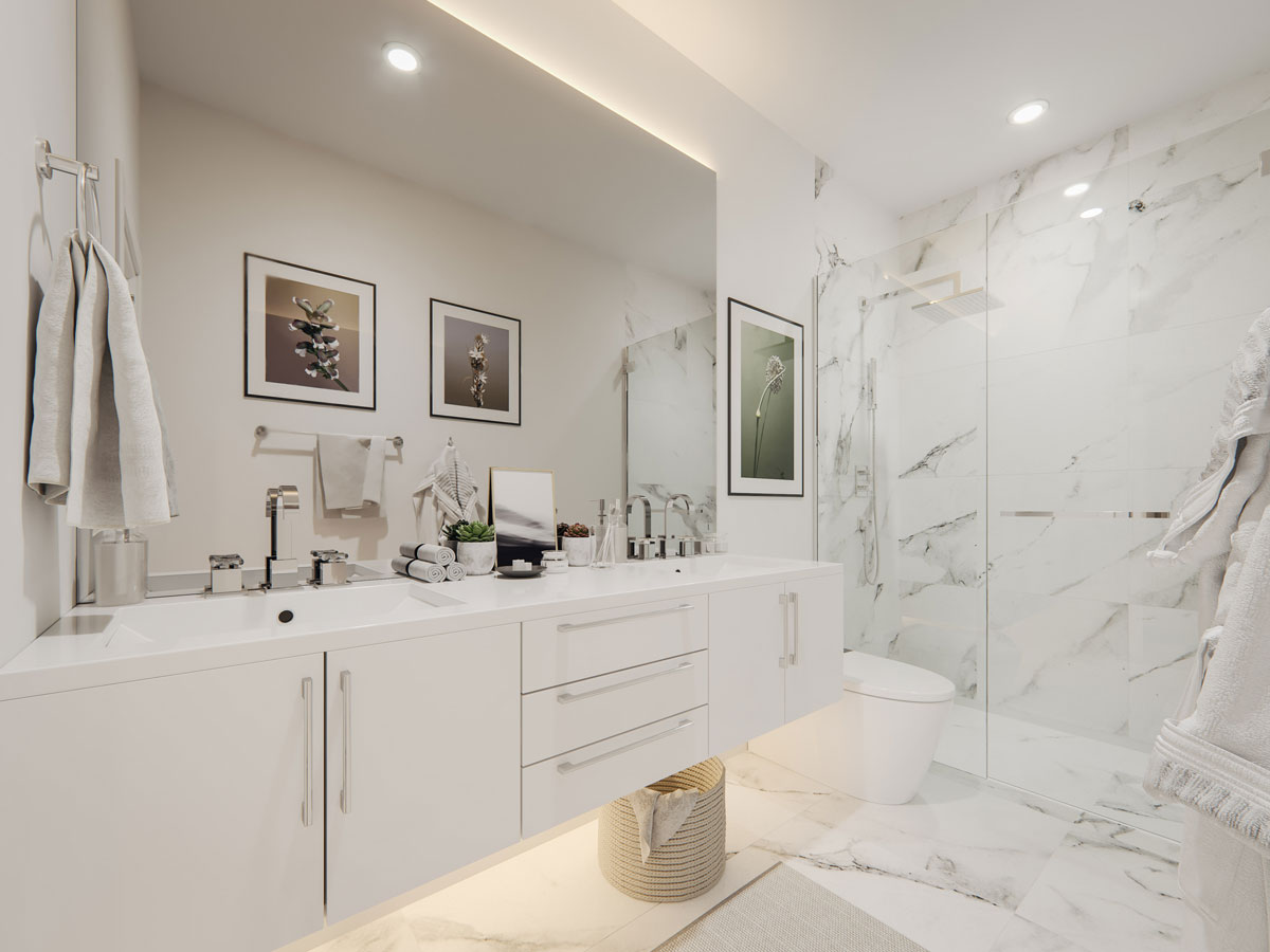 Wilshire Townhomes - Interior - Bathrooms